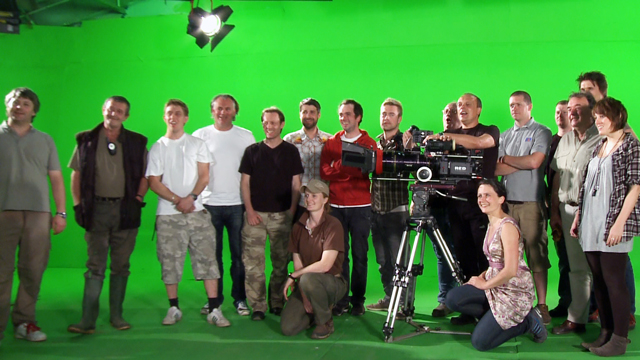 Crew for lion shoot
