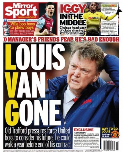 Louis Van Gone newspaper headline