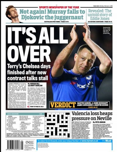 It's All Over for John Terry headline