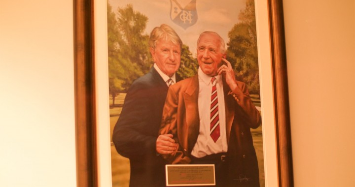 Sir Matt Busby and his son Sandy - a beautiful tribute by the Association of Former Players of Manchester United